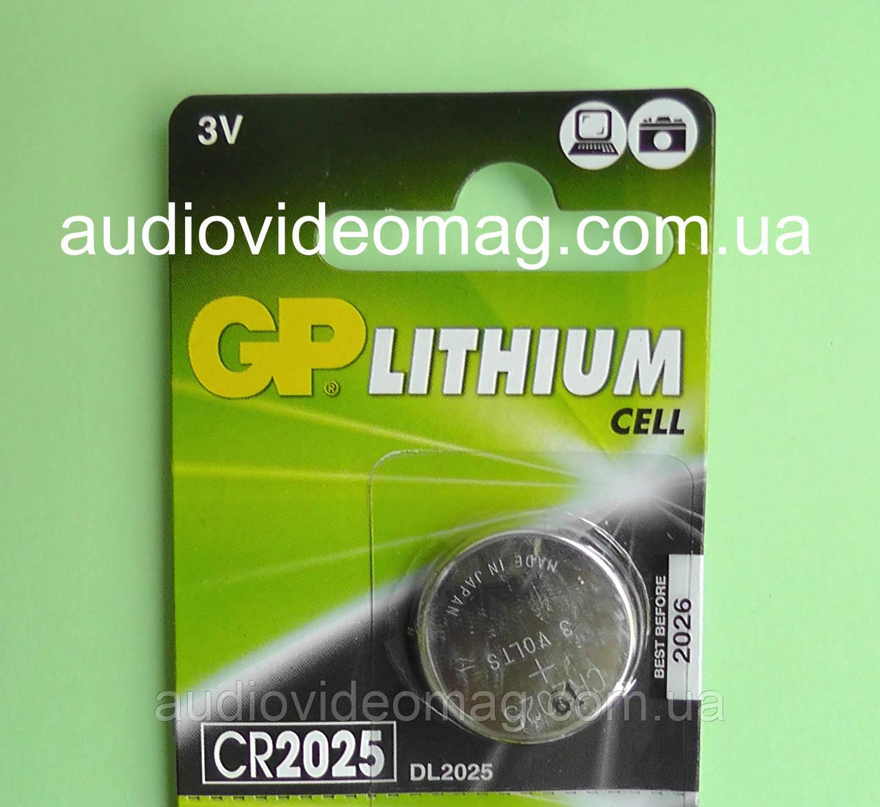 Батарейка литиевая GP CR2025 Lithium 3V