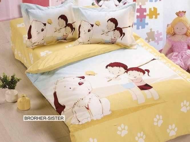 Комплект постельного белья ARYA печатный для новорожденных Brother Sister детское