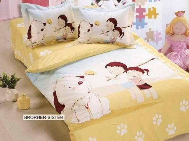 Комплект постельного белья ARYA печатный для новорожденных Brother Sister детское, фото 2