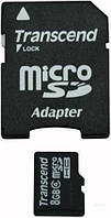 Карта памяти Transcend sd+adapter 8Gb