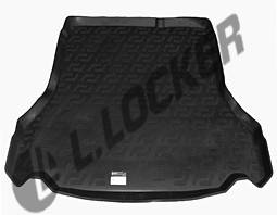 Ковер багажника Daewoo Lanos 1997- резинопластик L. Locer черн.