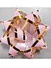 Бантик розовый с золотой окантовкой