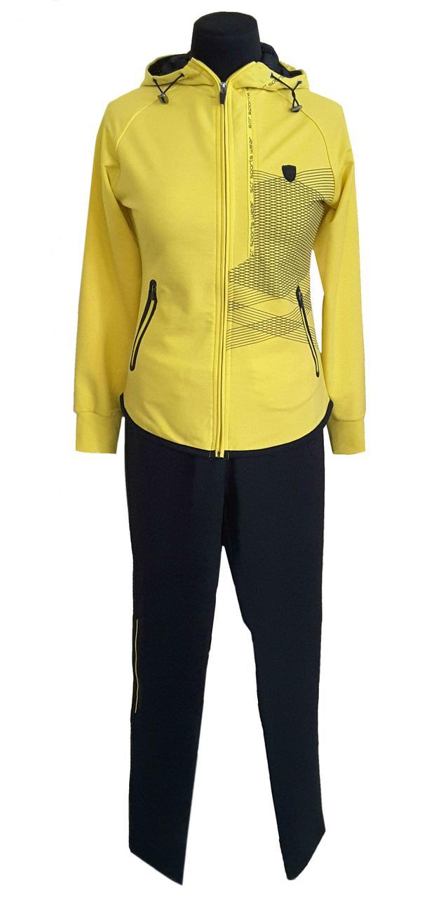 Женский спортивный костюм SOCCER -  21109 желтый