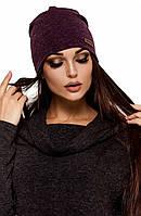 Женская ангоровое шапка Elison, фиолетовый