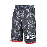 Шорты баскетбольные мужские adidas NBA Bulls Shorts AH5065 (серые, полиэстер, для тренировок, логотип адидас)
