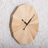 """Настенные часы деревянные """"Natural """" 60 см ручной работы"""