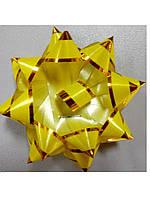 Бантик жёлтый с золотой окантовкой