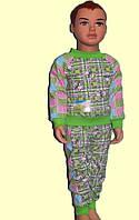 Пижама детская, рост 80-90, 90-98. С начесом