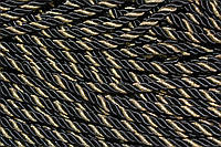 Канат декоративный 10 мм (100м) черный + золото