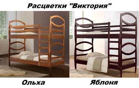 Двухъярусная кровать Виктория ольха (Микс-Мебель ТМ), фото 2