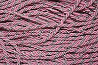 Канат декоративный 5мм (50м) св.розовый+серебро