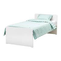 Каркас кровати с реечным дном IKEA SLÄKT 90x200см белый 792.277.55