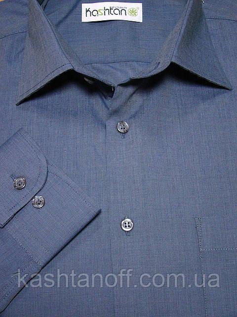 Поступила в продажу серо-синяя меланжевая рубашка