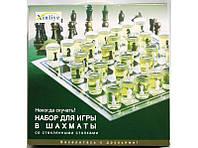 Набор для игры в шахматы со стеклянными стопками I5-43