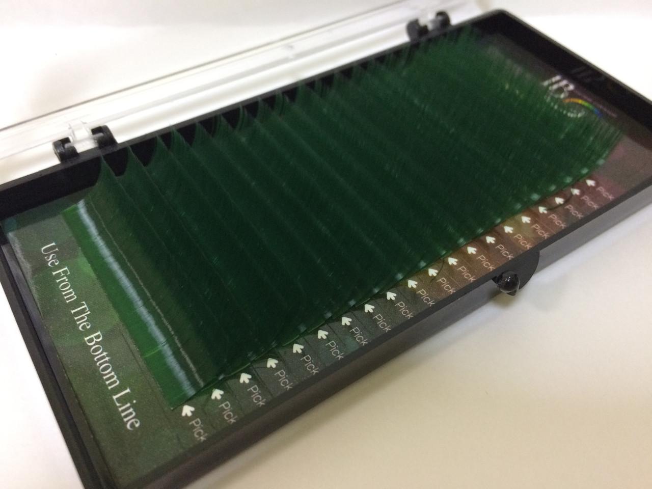 Ресницы на ленте C-0.15 - 12 мм I-Beauty (зелёные)