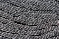 Канат декоративный акрил 12мм (30м) черный, фото 1