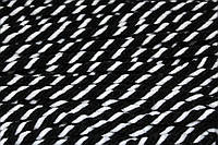 Декоративний Канат акрил 8мм (50м) чорний+білий, фото 1