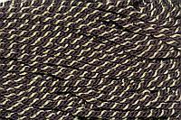 Канат декоративный ПЭ 10 мм (100м) т.коричневый+золото