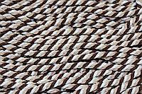 Канат декоративный ПЭ 10мм (100м) коричневый+белый+беж, фото 1