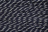 Канат декоративный ПЭ 5мм (100м) т.синий+серебро