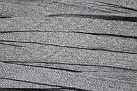 Тесьма акрил 10мм (100м) серый