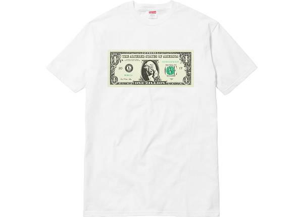 Футболка мужская Supreme SP18 Dollar Tee White Белая, фото 2