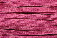 Тесьма акрил 6мм (50м) т.розовый