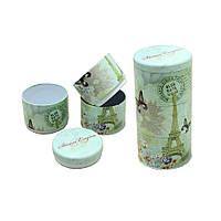 Набор банок для продуктов (банки для сыпучих железные, 100г ), 3шт, Парижская Роза