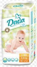 Подгузники Dada extra soft 3midi 4-9kg  60 шт