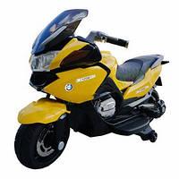 Электромобиль T-726 YELLOW мотоцикл 6V7AH мотор 1*25W 125*60*65 см