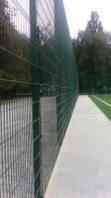 Забор из сварной сетки для спортивных площадок Кольчуга