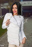 Куртка с мехом белого цвета