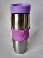 Термос-термокружка 0,4 л. Peterhof  PH 12410 violet, фото 1