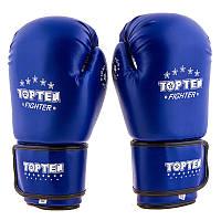 Боксерские перчатки синие для бокса TopTen, DX, 8oz,10oz,12oz