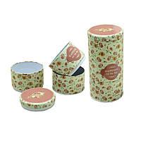 Набор банок для продуктов (банки для сыпучих железные, 100г ), 3шт, Счастливая Роза