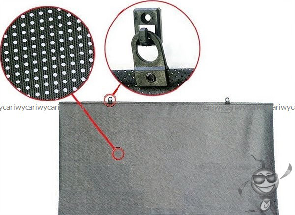 Шторка AUTOGEN 55 см polyester двойная black