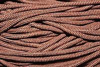 Шнур 5мм с наполнителем (200м) коричневый (шоколад)