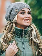 Молодежная вязаная шапка Barbara, темно-серый
