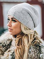 Молодежная вязаная шапка Barbara, серый