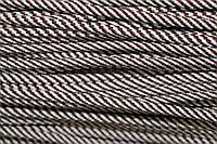 Шнур 5мм спираль (100м) коричневый (шоколад)+ белый