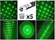 Ліхтар-зелений лазер 803-5, 5 насадка, фото 2