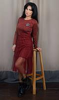 Очаровательное теплое молодежное платье