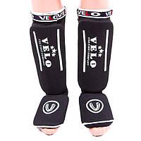 Защита ноги на липучке черная Velo размер S, M, L, XL