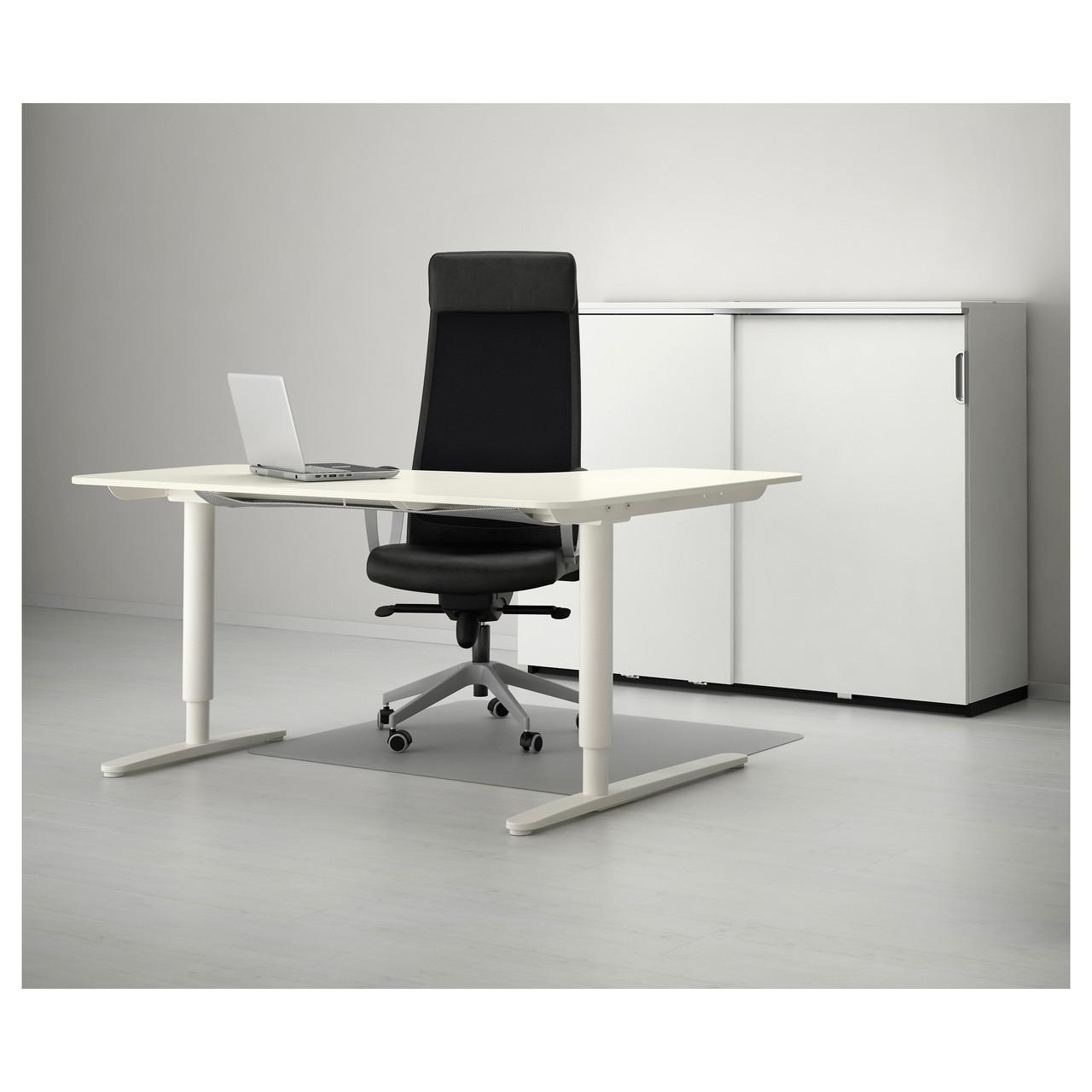 компьютерный стол Ikea Bekant 160x110 см угловой с регулируемой