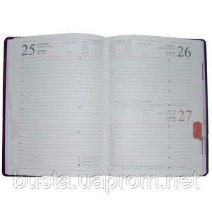 Ежедневник за 2011/2022 год А5 кожзам Caprice красный, фото 2