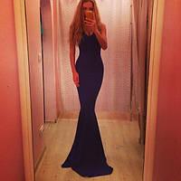 Платье трикотаж декольте русалочка