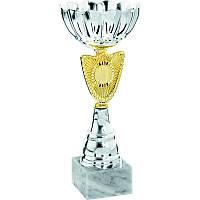 Кубок с серебрянным напылением h=21см, Италия
