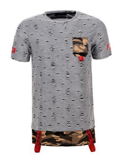 Мужская футболка  GLO-STORY AS18 MPO-5739 Серая