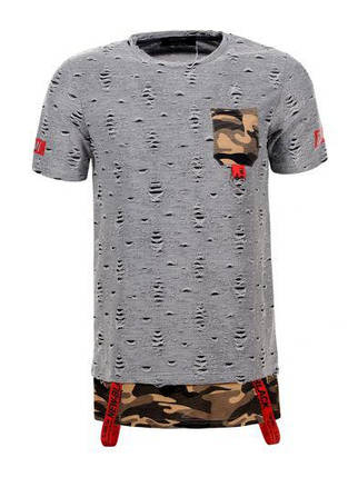 Мужская футболка  GLO-STORY AS18 MPO-5739 Серая, фото 2