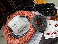 Кабельный обогрев для дома. Нагревательный кабель Fenix, 4,6 м.кв. (Акционная цена с регулятором)